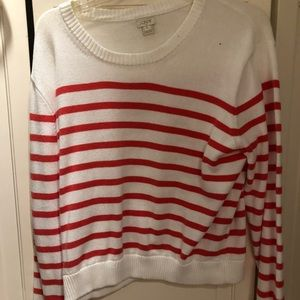 JCrew red white sweater
